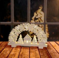 Dekor Holzbogen mit LED Weiß