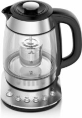 Roestvrijstalen Zanussi KEZ37-SSB Intelligente waterkoker en theekoker, instelbare temperatuur, theefilter, Inhoud 1,7 liter voor 7 kopjes thee.