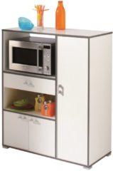 Young Furniture Keukenkast Buzz 112 cm hoog - Wit