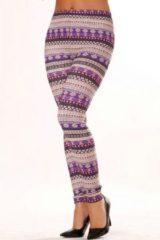 Paarse Merkloos / Sans marque Patroon Legging (Pipa-sofie)