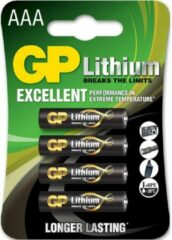 GP batterijen AAA batterij (potlood) GP Batteries Excellent FR03 Lithium 1.5 V 4 stuk(s)