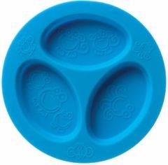 Blauwe Oogaa Siliconen 3 Vaks Bord - Blue