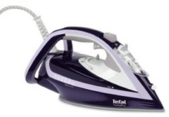 Paarse Tefal Turbo Pro FV5615E0 Dry & Steam iron Durilium soleplate 2600W Violet strijkijzer