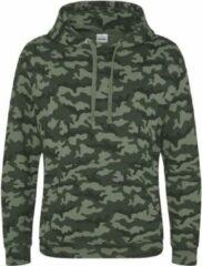 AWDis Hoods Camo hoodie, Kleur groen Camo, Maat L