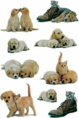 27x Honden/puppy Stickers Met Katten/poezen -Dieren Kinderstickers - Stickervellen - Knutselspullen