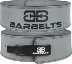 Barbelts lever belt 10mm - powerlift riem - grijs - M