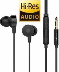 Tuddrom R4 Zwart - Hi-Res Metalen In Ear Oordopjes met Microfoon - Titanium High Quality Dynamic Drivers - 2 Jaar Garantie