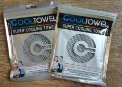 Licht-grijze CoolTowel Sport handdoek |set 2 x cool towel | ice towel | koel handdoek | cold pack |cooling towel | verkoelende handdoek | sterk absorberend | snel drogend | yoga, fitness, hard lopen