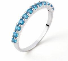 Zinzi ZIR827T Ring zilver met turquoise zirconia Maat 58