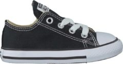 Zwarte Converse Chuck Taylor All Star Sneakers Laag Baby - Black - Maat 22