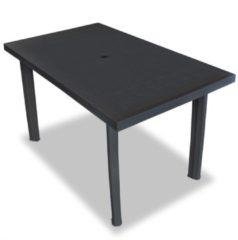Antraciet-grijze VidaXL Tuintafel 126x76x72 cm kunststof antraciet