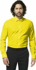 OppoSuits Yellow Fellow - Mannen Overhemd - Geel - Feest - Maat 41/42