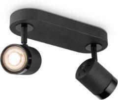 Home sweet home LED opbouwspot Manu 2 lichts ↔ 24 cm - zwart