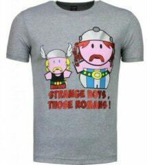 Grijze T-shirt Korte Mouw Mascherano Romans - T-shirt