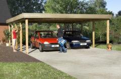 WEKA   Carport 609   Dubbel   576 x 784 cm