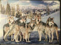 Stemen Kinderpuzzel wolven 28 cm x 21 cm