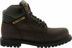 Bruine Blackstone schoen 929/928 6 oil nubuck choco - Maat 44
