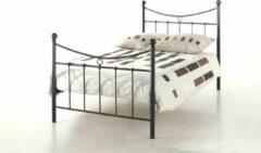 Rousseau - Metalen Bed Sacha - 90x200 - Zwart - Metaal