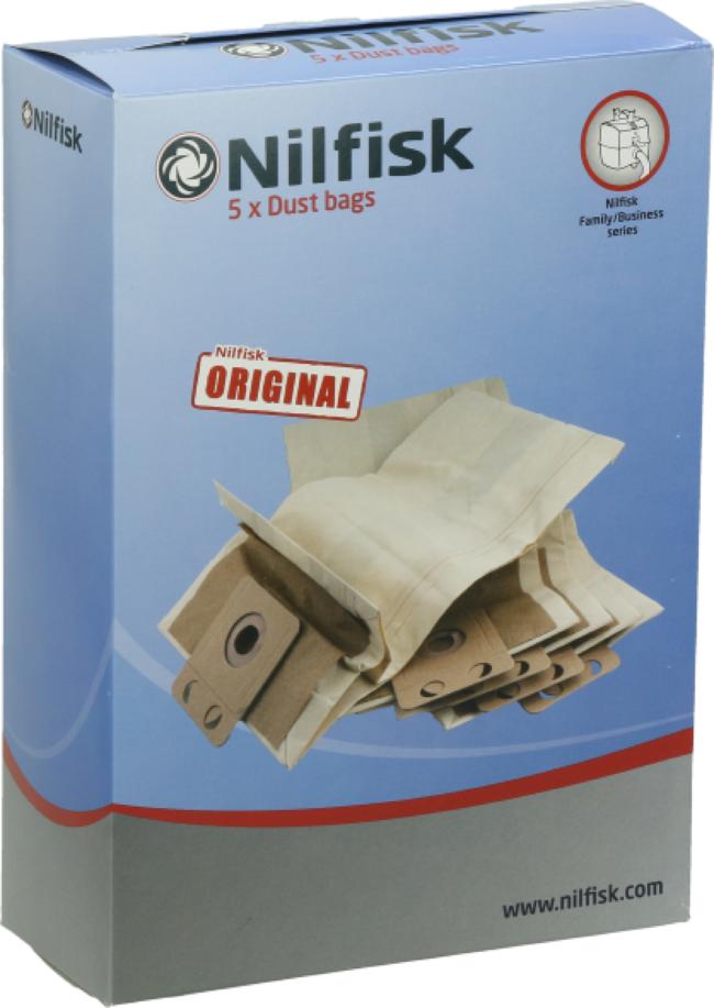 Afbeelding van Niko Nilfisk stofzak, 5 per, voor nilfisk business, 1 nilfisk GD1010