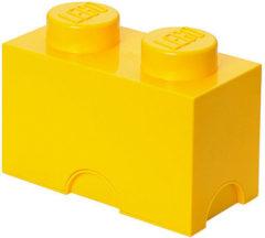Gele Lego Storage brick - Geel - 12,5 cm x 25 cm - 18 cm - 2L7