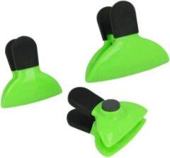 Metaltex Vershoudclips 2 X 6 Cm Zwart/groen 3 Stuks