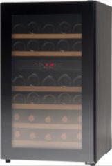Zwarte Vestfrost Solutions WFGB32A Vrijstaande wijnklimaatkast met 2 temperatuurzones 38 flessen - Greeploos - 50 cm breed