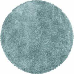 Impression Himalaya Pearl Soft Rond Shaggy Hoogpolig Vloerkleed Blauw - 200 CM ROND