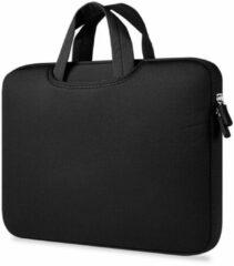 Geeek Airbag MacBook 2-in-1 sleeve / tas voor Macbook Air / Pro 13 inch - Zwart