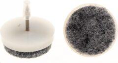 Bruine Verlofix Viltnagel Diameter 20mm Nylon Wit 4stuks