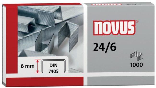 Afbeelding van Novus 24/6 SUPER 040-0158 Nietjes 1000 stuk(s) 1.000 stuks/pak Heftcapaciteit: 30 vel