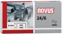 Novus 24/6 SUPER 040-0158 Nietjes 1 pack 1.000 stuks/pak Heftcapaciteit: 30 vel