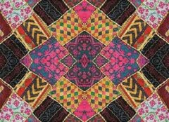 Exclusive Edition Tapijt Small Squares 195 X 135 Cm Polyester