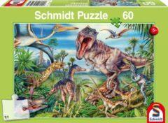 Schmidt At The Dinosaurs Puzzel - 60 Stukjes