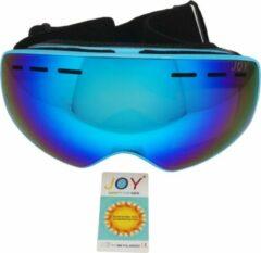 Blauwe Joy Kids Crowne Kids TPU Ultra-Light frame. Dubbel layer lens Ski/Snowboard Goggle