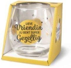 Gouden Miko Wijn- waterglas - Lieve vriendin