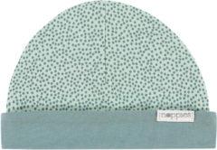 Grijze Noppies Kindermuts Babylon - Grey Mint - Maat 0M-3M