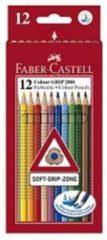 Witte Kleurpotlood Faber Castell GRIP kartonnen etui a 12 stuks