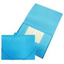 Blauwe Beautone elastomap met kleppen formaat A4 blauw