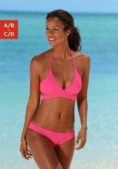 Rosa Bench. Triangel-Bikini in Wickeloptik