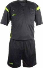 Geco Sportswear Scheidsrechter set Mistral Grijs/Neon korte mouw / maat: S