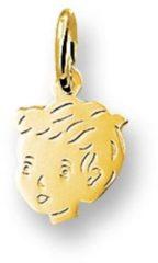 Gele Kasius Huiscollectie 4005844 Gouden bedel kinderkopje jongen