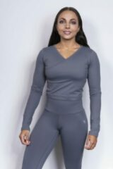Grijze Mfit Sportswear MFIT - Shaper crop top - Ice grey