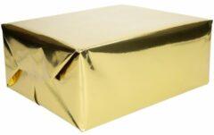 Cadeaupapier goud metallic - 400 x 50 cm - kadopapier / inpakpapier
