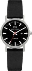 Zilveren Danish Design watches titanium dameshorloge Rhine Black Black Date Small IV23Q199