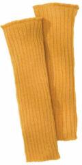 Minibär DESIGN Gebreide wollen warmers, geel-oranje