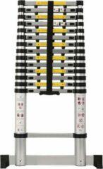Gele D&L Telescopische Ladder - 4,4 M - 15 Treeds