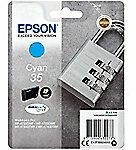 Blauwe Epson Singlepack Cyan 35 DURABrite Ultra Ink 9.1ml Cyaan inktcartridge