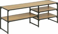 Hioshop Sea TV-meubel met 3 planken, mat zwart.