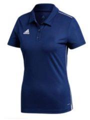 Blauwe T-shirt Korte Mouw adidas Core 18 Polo Women