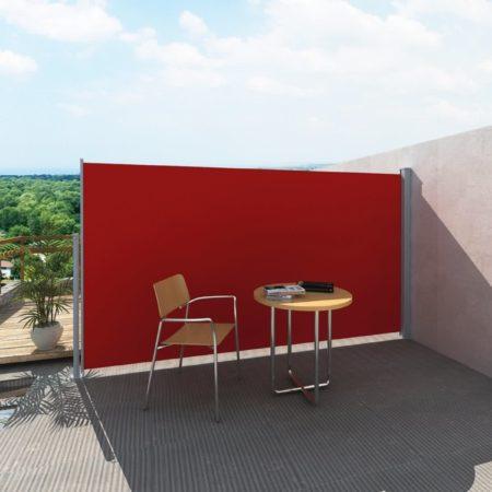 Afbeelding van Rode VidaXL Uittrekbaar wind- / zonnescherm 160 x 300 cm (rood)